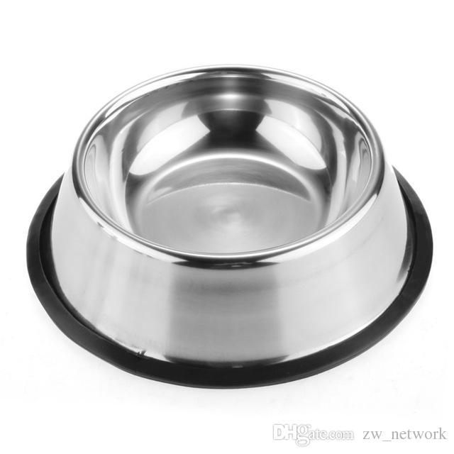 Paslanmaz Köpek Kase Evcil Çelik Standart Pet Köpek kase Yavru Kedi Gıda veya Içecek Su Kase Çanak 77