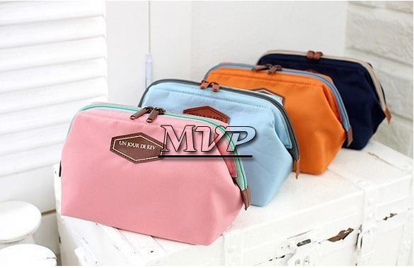 Оптовая мода косметолог 4 цвета косметический мешок макияж Сумка женская организатор сумка Сумка дорожная сумка сумки для хранения 10 шт. / лот бесплатная доставка