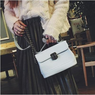 New. Lock. Small. Mini. Casual fashion. Handbag. Women's Bags. Girls. PU. Soft. Monochromatic.Cross Body.Shoulder Bags.Totes.
