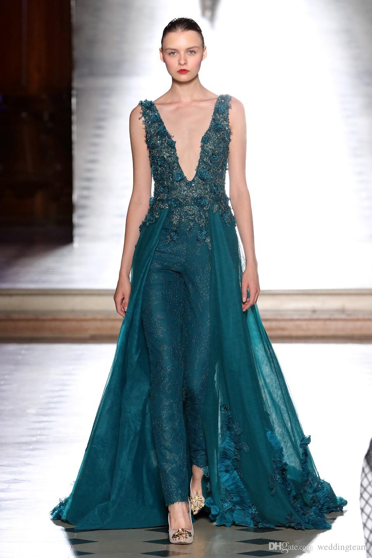 الأزياء الدانتيل بذلة overskirt فساتين السهرة 3d appliqued مطرز الحفلة الراقصة vestidos فيستا تول ديب الخامس الرقبة مطرزة اللباس الرسمي
