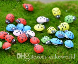 100pcs mini Beetle Ladybug Fata gnomi da giardino in resina artigianato Figurine ornamenti Dollhouse bonasi decor