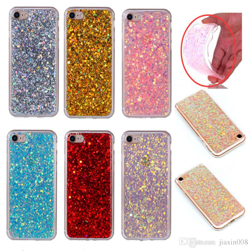 Fashion Flash slice Phone Case For Coque iPhone 6 6S Cover Acrylic Soft TPU silicon Mobile Phone Case For Fundas iPhone 6 6S