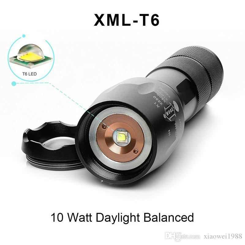 LED bitianteam 5W Q5 Mini Torcia Linternas 1300 Lumens Zoom In Out Luci Luci di Searchlight Flash
