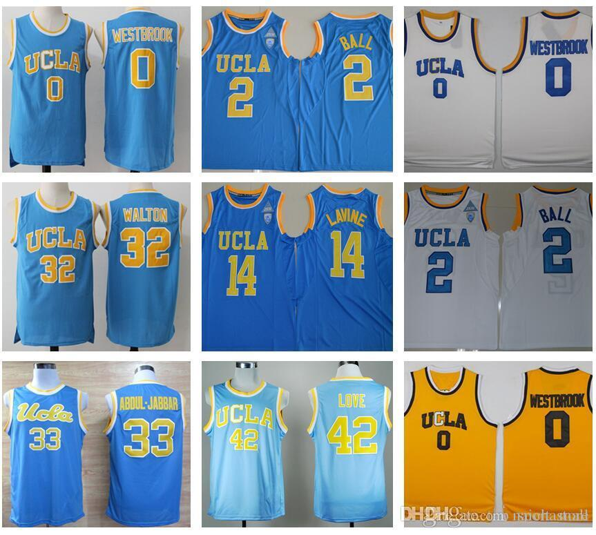 3b5535e9e60a ... Basketball Jersey 2017 2017 Men Ucla Bruins College Jerseys 0 Russell  Westbrook Blue White 2 Lonzo Ball Jersey ...