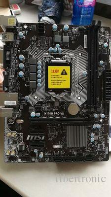 데스크탑 마더 보드 H110 LGA1151 MSI H110M Pro-VD DDR4 최대 램 32GB 지원 CPU G4560 G4600 7100 코어 i3 / i5 / iI Micro ATX 메인 보드