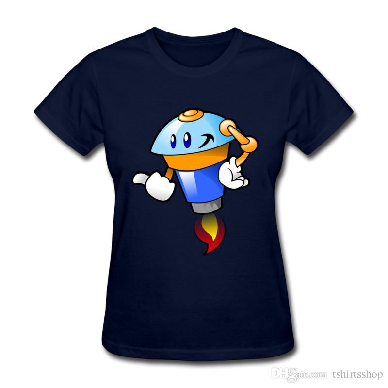Cuello redondo Camisetas para niñas Modelos de dibujos animados peculiares Camisetas estampadas Porcentaje de algodón purificado Deportes activos Camisas de verano suaves