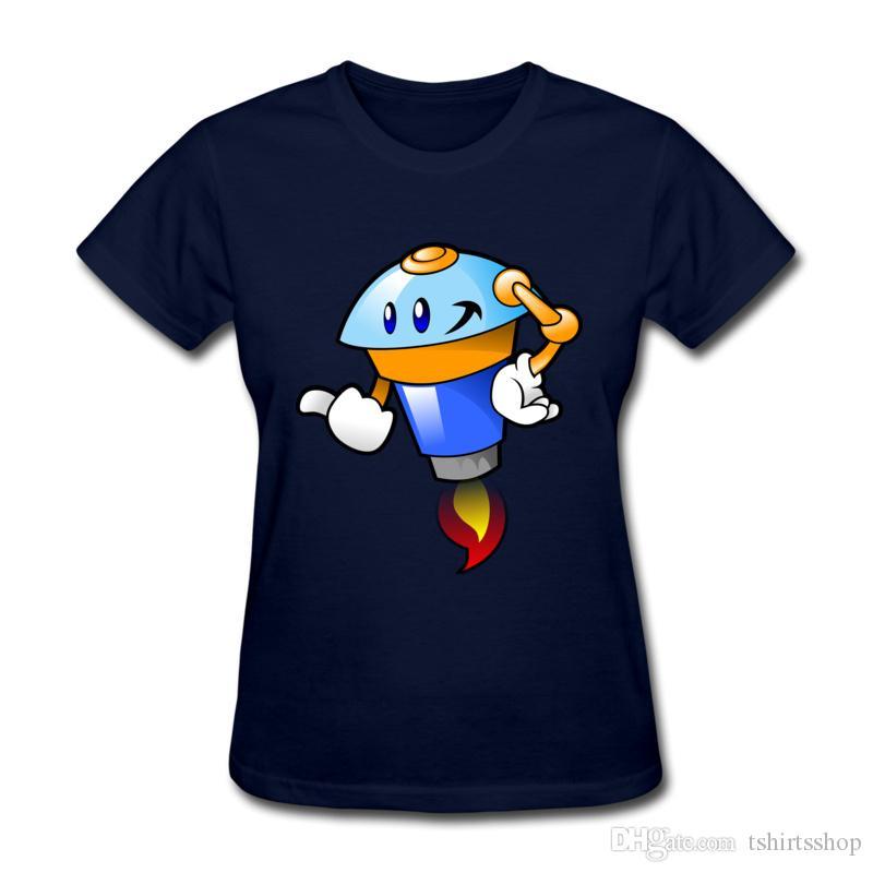 Tripulação Pescoço Meninas T-shirt Peculiar Modelagem Dos Desenhos Animados Impresso T Por Cento de Algodão Purificado Ativo Esportes Macios Camisas de Verão