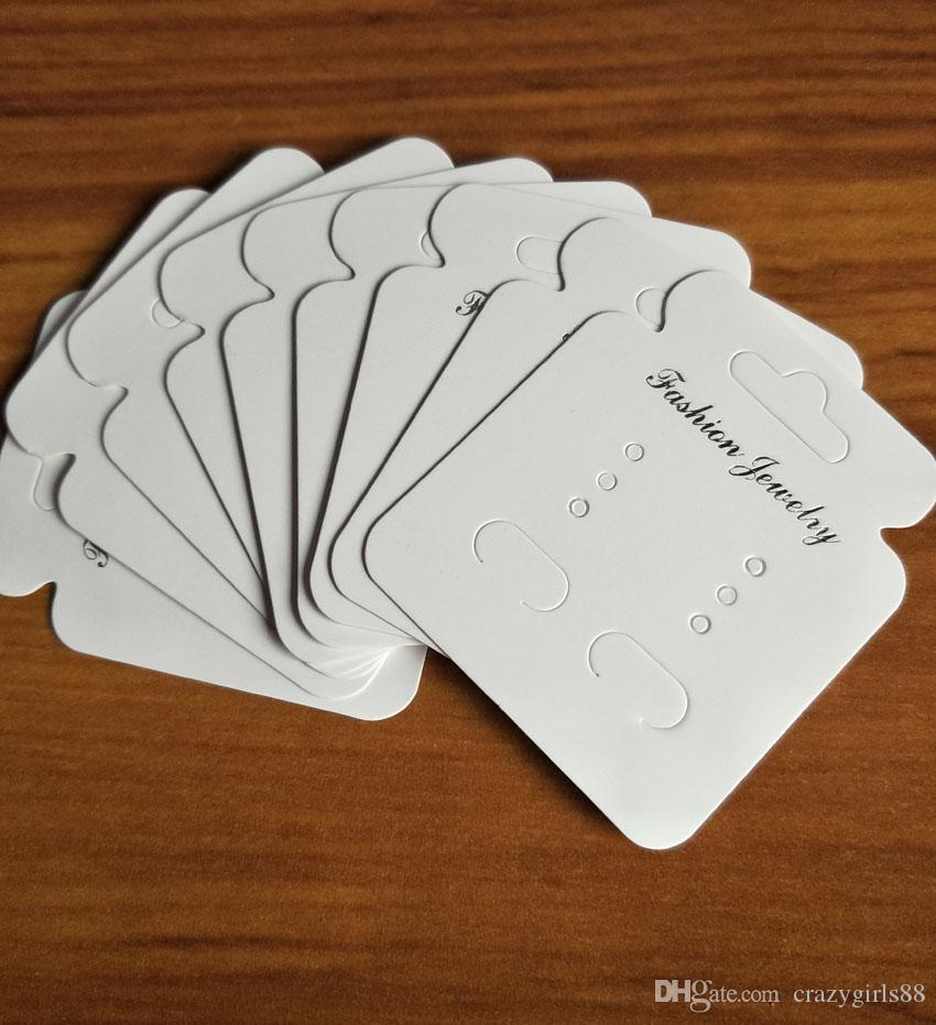 bianco carta di imballaggio di gioielli fai da te appendere orecchino appeso carta di alta qualità carta display cartellini