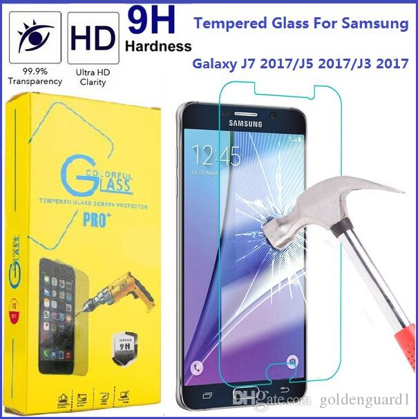 For Samsung J7 2017 Tempered Glass Screen Protector Galaxy J5 J3 Emerge J1 G4 J2 ACE 9H Hardness Premium Toughened Glass Film