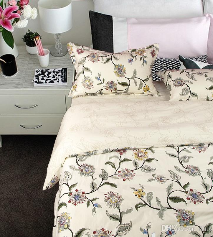 Wonderful Riho 100% Cotton Bedding Rural Floral Rose Elegant Bedding Sheets Bedding  Duvet Cover SetsBeige King Size Bedding King Size Duvet From Riho, $40.2|  Dhgate.