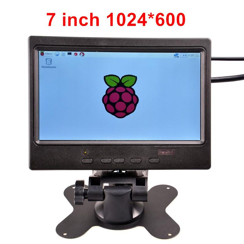 Freeshipping 7 inch TFT HDMI Display LCD Color Monitor 1024*600 Screen for Raspberry Pi 3 / 2 Model B / B+ / PC Win 7 8 10