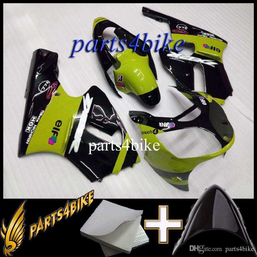 Carena ABS stampo ad iniezione Kawasaki ZX12R 00 01 ZX-12R 2000 2001 00-01 kit corpo moto nero verde