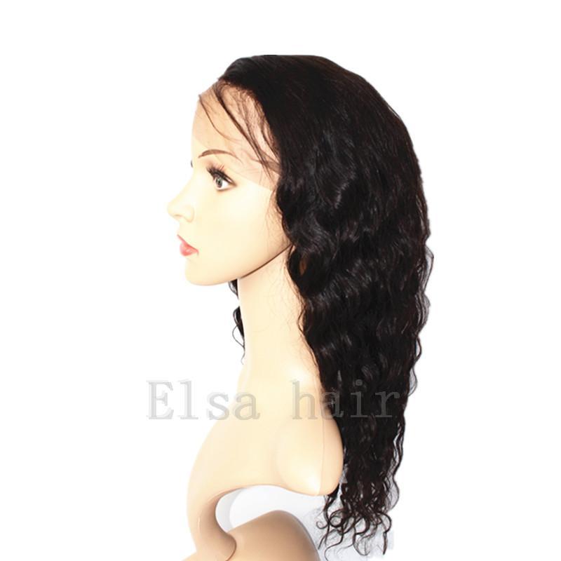 Brasilianische Nasse und Wellenförmige Volle Spitze-Menschenhaar-Perücken für schwarze Frauen Leimlose Wasser-Wellen-Spitze-Frontseiten-Perücken mit dem Baby-Haar