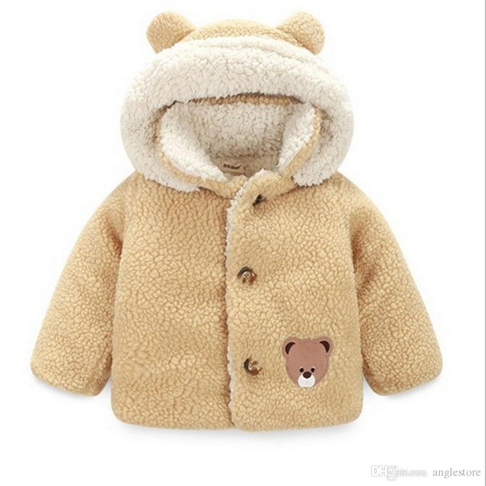 81bffe722b98 Baby Girl Jackets Winter Girls Coat Cute Hooded Infant Kids Overcoat  Children Warm Outerwear Children Leather Jackets Jacket For Child From  Anglestore