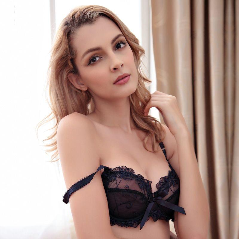 bcc2f57a223 2019 MoXian Underwear Set New Hot Sale Comfortable Bra Suit Large Size Sexy  Lace Underwear Set Net Yarn Transparent Bra Set Women Bra LS34608008Z From  ...