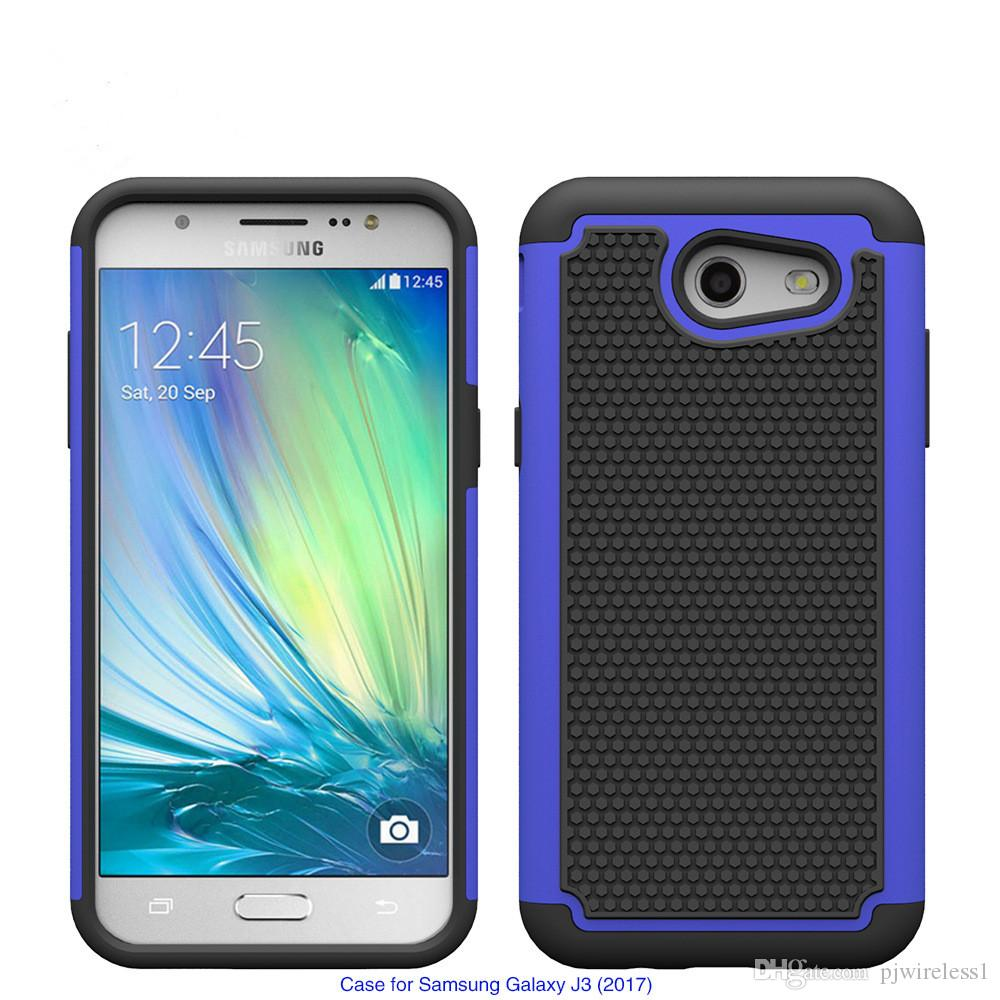 For HTC Bolt 10 Evo Galaxy J3 2017 J3 Emerge J327P J3 POP prime Armor case Shockproof Hybrid Rubber Football Skin Hard cover