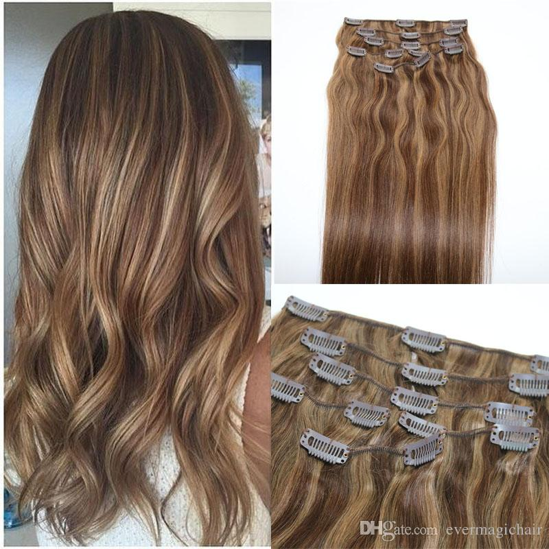 Human hair extensions ombre color two tone 4 brown piano 8 clip human hair extensions ombre color two tone 4 brown piano 8 clip in human hair extensions highlights remy extensions human hair extensions remy from pmusecretfo Choice Image