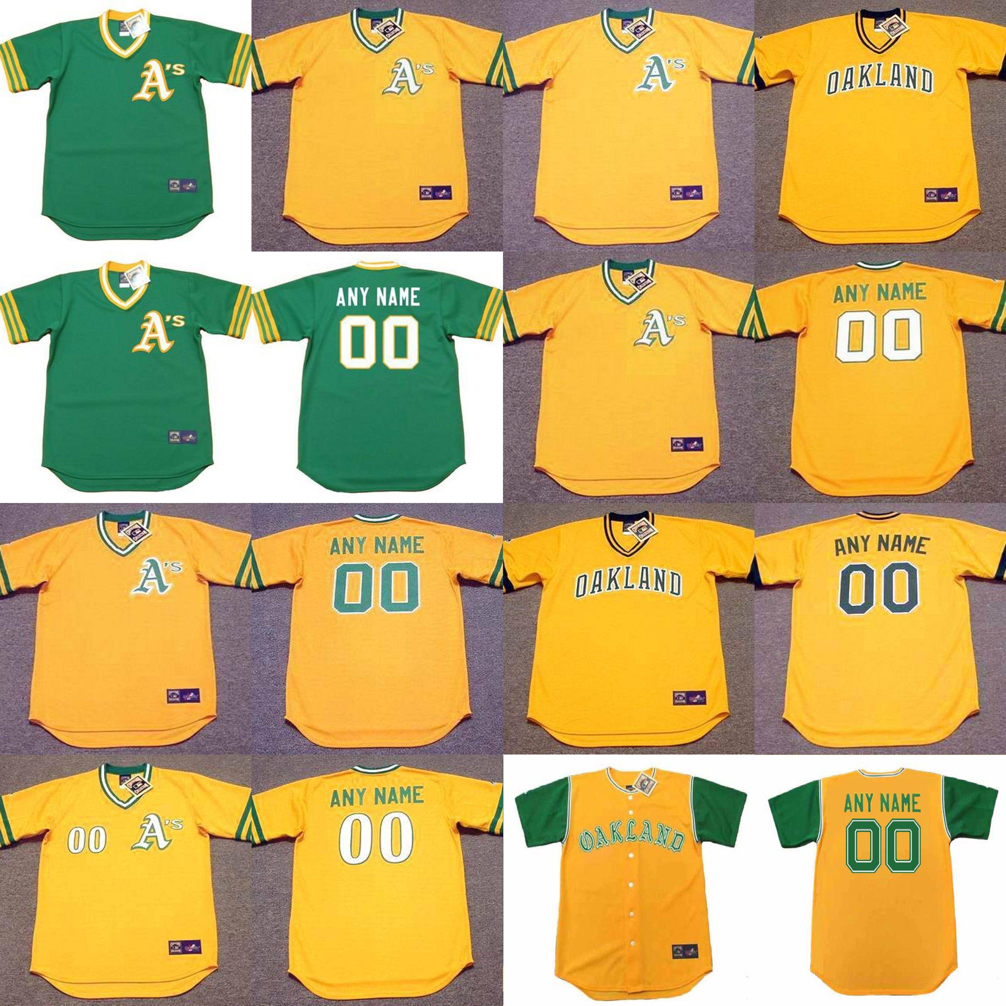 quality design 12276 fcc72 oakland athletics blank yellow jersey