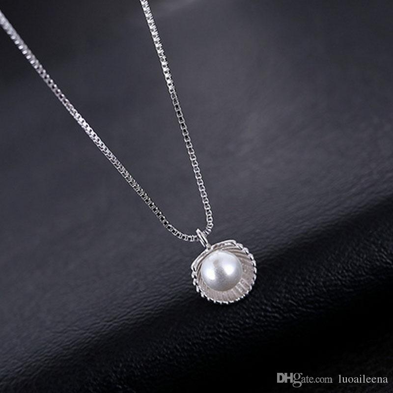 Wholesale the unique design jewelry clavicle s925 sterling silver wholesale the unique design jewelry clavicle s925 sterling silver shell pearl necklace for ladies girls wild pendant necklace jewelry meet marry bride aloadofball Choice Image