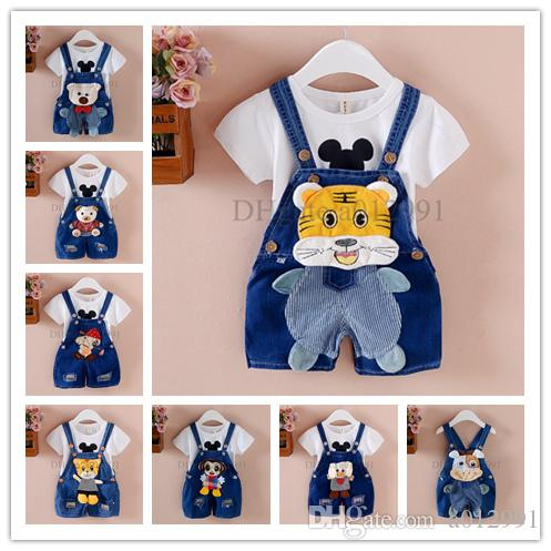 b55d5910cdc6 2017 Summer Spring Kids Overall Jeans Clothes Newborn Baby Bebe ...