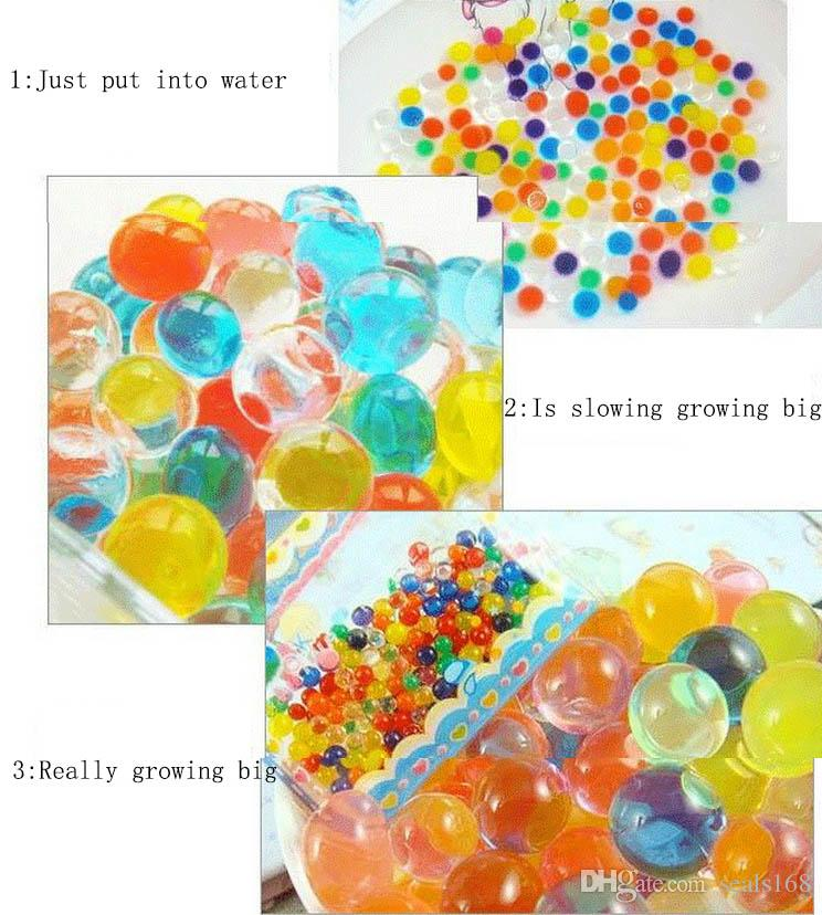 2.5-3mm Glowing Pearls Crystal Water Beards As Indoor Flower Plant Crystal Soil Gel Jelly Party Wedding Decor XMAS Gifts HH-T33