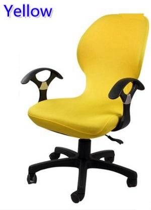 yellow colour lycra computer chair cover fit for office chair with