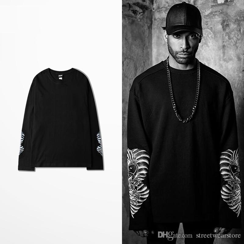 Dark Style 2017 Winter Fashion Long Sleeve T Shirt For Men ...