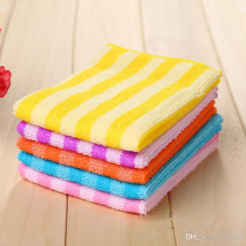 High Efficient Anti-grease Color Dish Cloth Fiber Washing Towel Magic Kitchen Cleaning Wiping Rags Wholesale