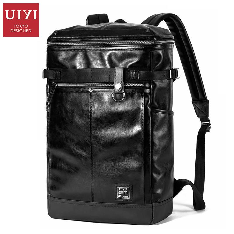 dd87884a59ab Wholesale- UIYI Black Backpacks Men PU Leather Bag School Bags For ...