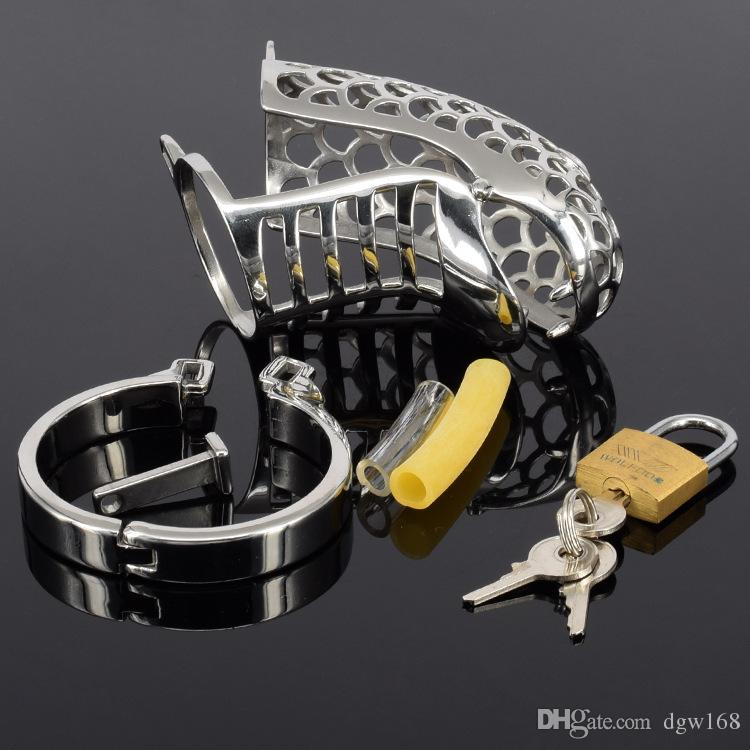 New design top quality stainless steel metal male chastity devices cock cages for bdsm snake design cock cage