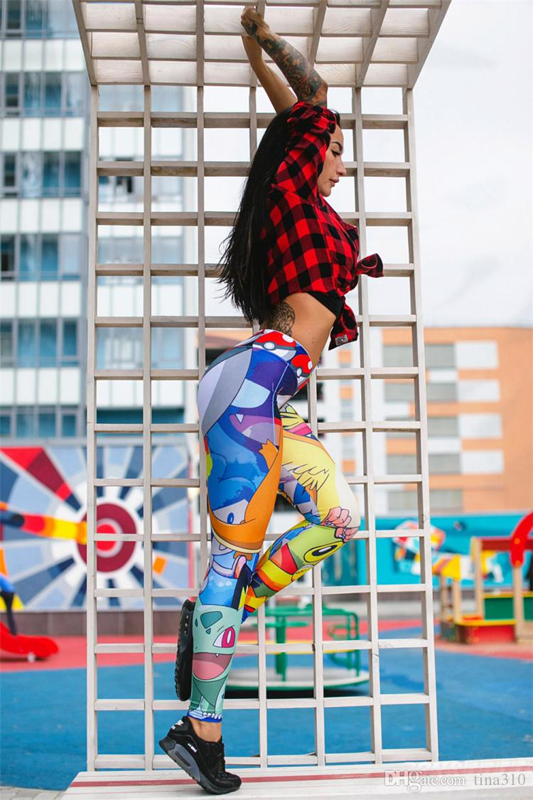 Nouveau Mode Femmes Leggings Écaille De Poisson Sport Gym Fitness Pantalon Gradient Couleur dames Sports Leggings Pantalon Sexy B1084