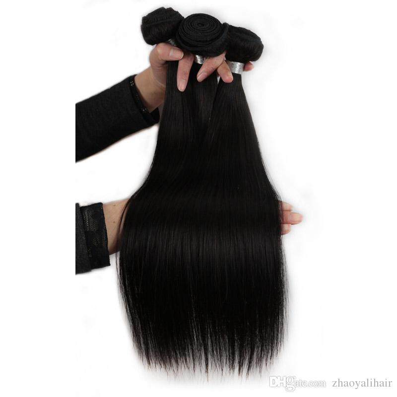Malaysian Virgin Hair Extensions Human Hair Weave Straight Hair Weave Bundles Good Quality No Shedding 8-28inch Available in ARed