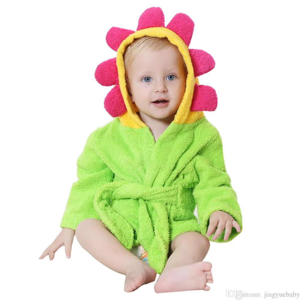 MICHLEY Bathrobe Towels Cotton Hooded Beautiful Animal Style Baby Bathrobe  Kids Washcloth Pajamas Clothing Baby Bathrobe Towel Baby   Kids Clothing  Cotton ... bc1651bac