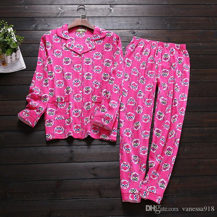 7d77b6e2e 2019 Cartoon Ladies  Pajama Sets Pyjamas Women Pajamas Woman Winter ...