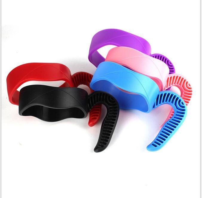 Nuevo Hot Cups Holder antideslizante jarras de plástico manejar para 30 Oz / 20 OZ Tumbler Handle Fit para tazas de la Copa