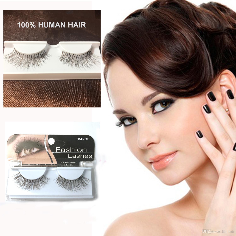 Tdance Real Human Hair Eyelashes False Eyelash Extension Kit Eyelash