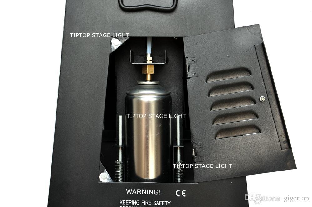 4 boquillas de chorro y efecto de llama de es DMX Fireworks 4-shot Spray 3 metros Máquina de humo Etapa DMX Fire Device