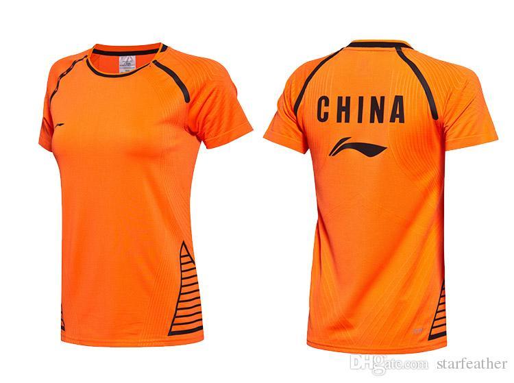 2017 Sudirman Copa Badminton vestir a camisa da equipe nacional de secagem rápida respirável terno uniformes para homens e mulheres