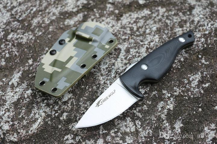 New Arrival Top Quality Survival Straight Knife 9Cr18 Satin Blade Black G10 Handle Outdoor Camping Hiking Hunting Fixed Blade Knives