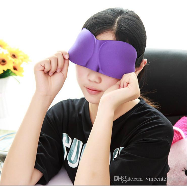 Portable 3D oeil masque de sommeil en coton avec les yeux doux Soft Eye Shade Nap Cover Bande pour les yeux sommeil Voyage Reste Vision Care 6 couleurs