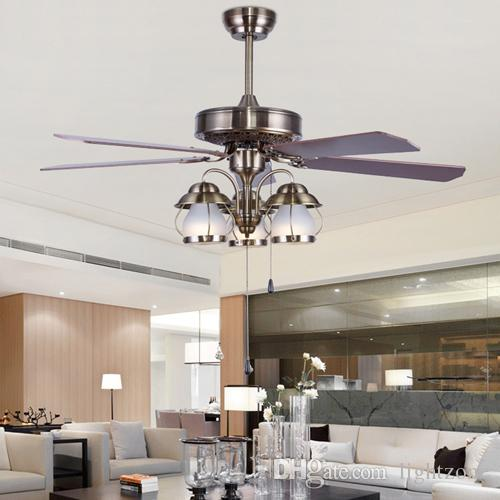 Led ceiling fans 42 110v 240v american european retro ceiling fans led ceiling fans 42 110v 240v american european retro ceiling fans lights wooden blade for restaurant sitting room living room study rooom 42 inches led mozeypictures Images
