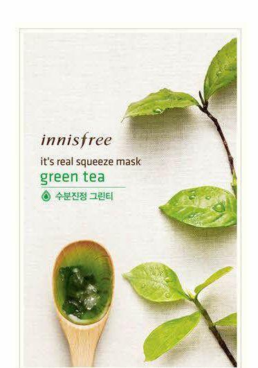INNISFREE Squeeze Mask Blatt feuchtigkeitsspendende Gesichtshautbehandlung Öl-Kontrolle, Gesichtsmaske Peels Hautpflege Pilatus A001