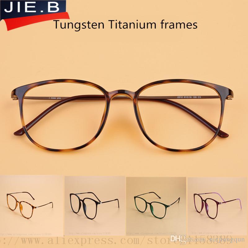 Großhandel Tungsten Titan Brillengestell Männer Platz Vintage ...