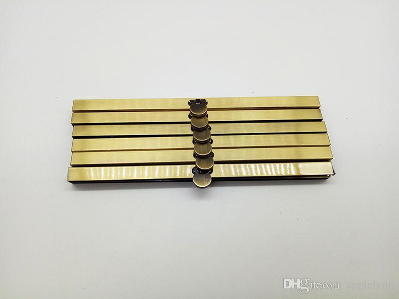 الجملة محفظة 19CM إطار 3 لون حقائب محفظة الإطار المعدني المشبك مستلزمات صناعة الفضة محفظة / رمادي غامق / البرونزية