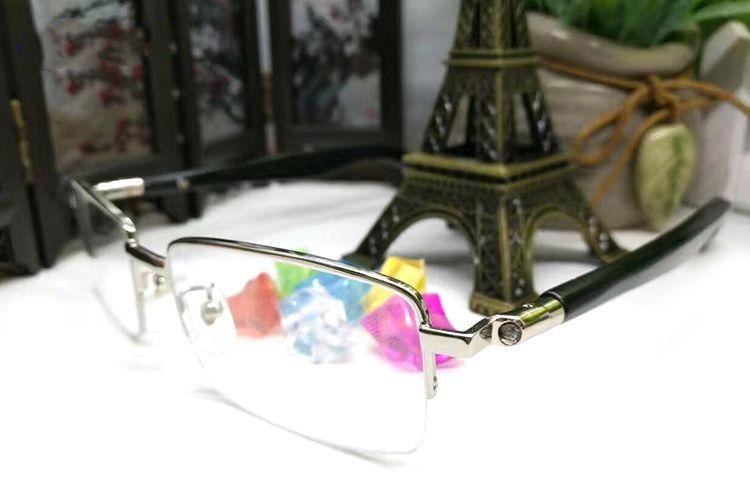 2019 gafas de sol de verano sin montura de hombre / mujer gafas de cuerno de búfalo Estuche de anteojos de Brand Designer gafas blancas de madera Gafas