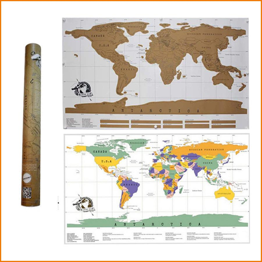 Travel scratch off map personalized world map poster traveler travel scratch off map personalized world map poster traveler vacation log national geographic world map wall sticker home decor travel scratch off map gumiabroncs Choice Image