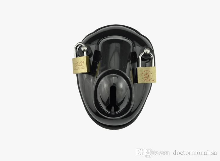 Docteur Mona Lisa - Le mâle classique Big Bowl Cage de chasteté Chaud-vente en plastique dispositif de ceinture de verrouillage Bird Cage Deux tailles de bague