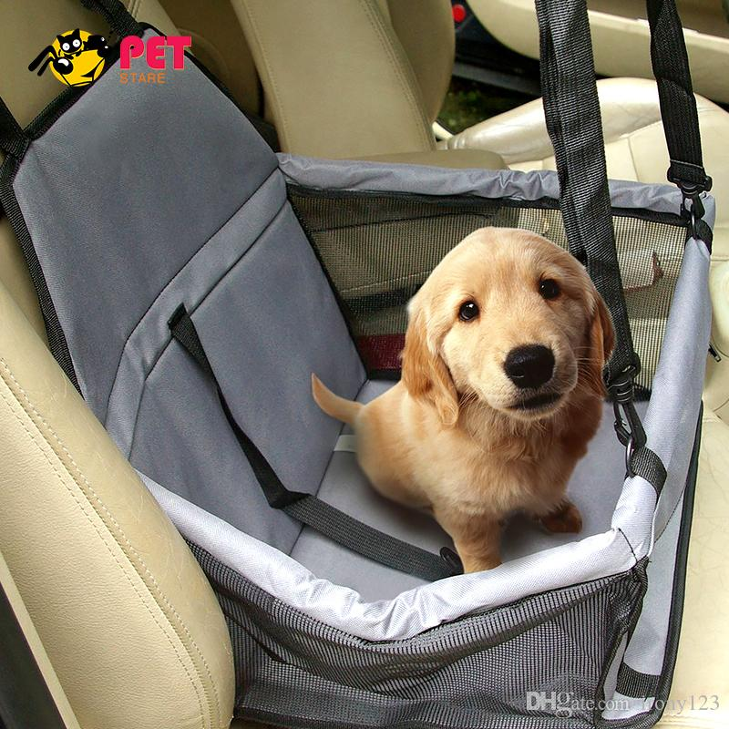 2018 Dog Car Seat Dog Bag Stroller Waterproof Portable Car Pet Booster Seat  With Clip On Safety Leash And Zipper Storage Pocket From Irony123, ...