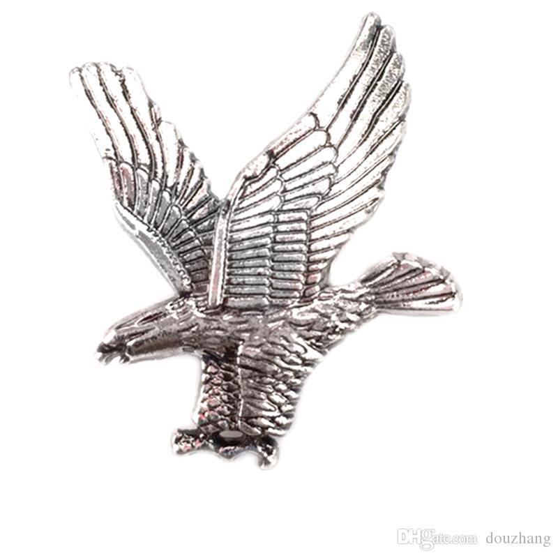 도매 unisex eagle shirt 브로치 핀 칼라 버튼 스터드 브로치 여성 남성 쥬얼리