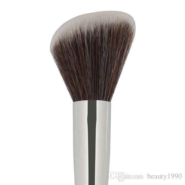 Spazzole trucco contorno labbra Blush Manico in legno nero capelli sintetico Moda professionale Make up Strumenti di pennello cosmetico donna